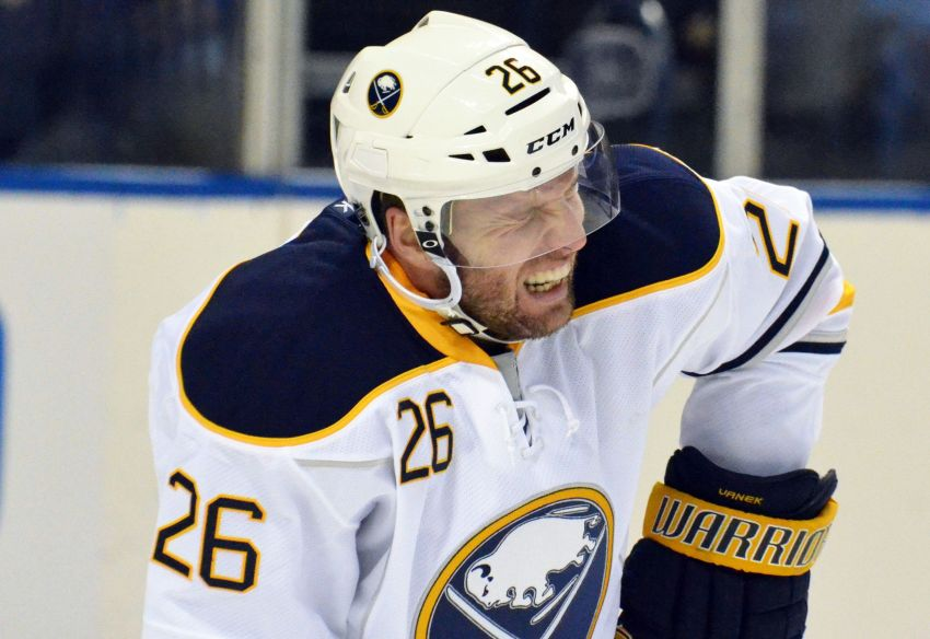 Sabres' sole focus on game in front of them; Vanek should practice again Monday