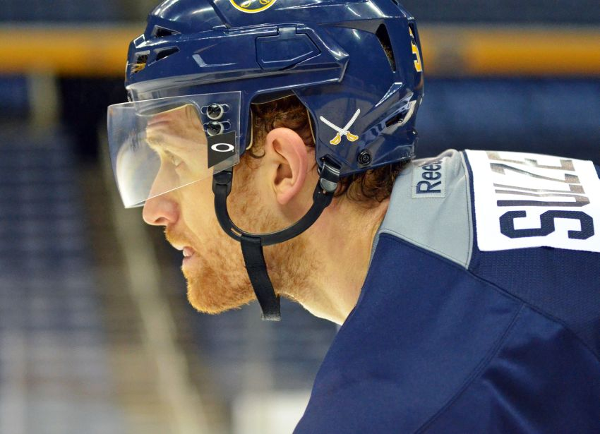 Alexander Sulzer happy to be back with Sabres after ACL injury
