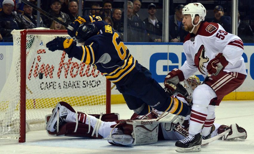 Crazy goal clinches Sabres' exciting OT triumph against Coyotes