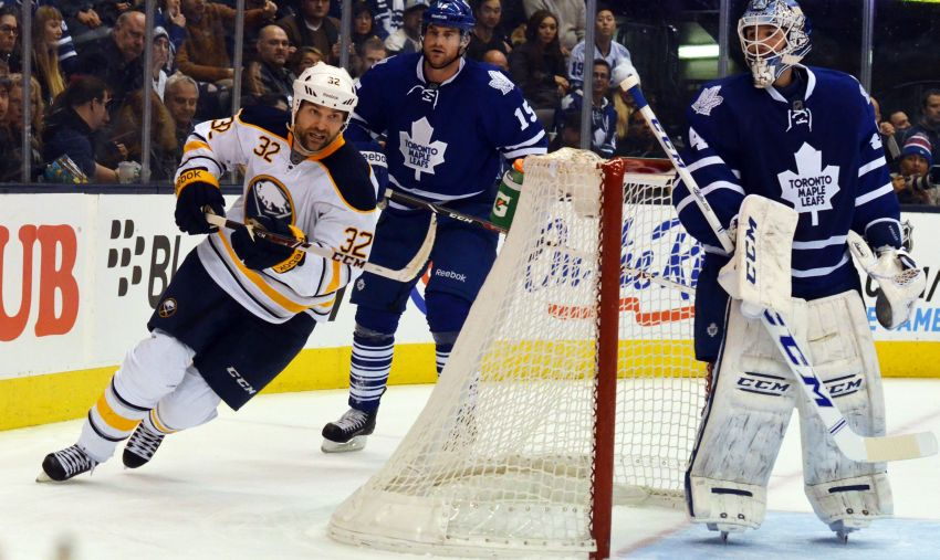 Sabres get rare score from John Scott, blow 2-goal lead before falling to Leafs in shootout