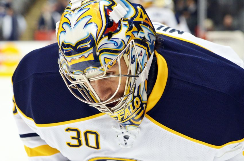 Sabres goalie Ryan Miller to rest tonight, happy with backup Jhonas Enroth playing regularly