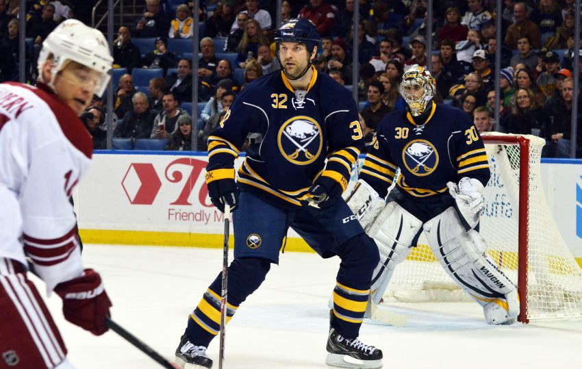 Flu bug forces the Sabres to play short-handed, utilize tough guy John Scott