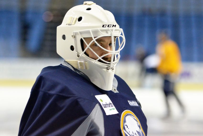 Sabres grateful for snow day; Swedish Olympian Jhonas Enroth to start in goal tonight against Panthers