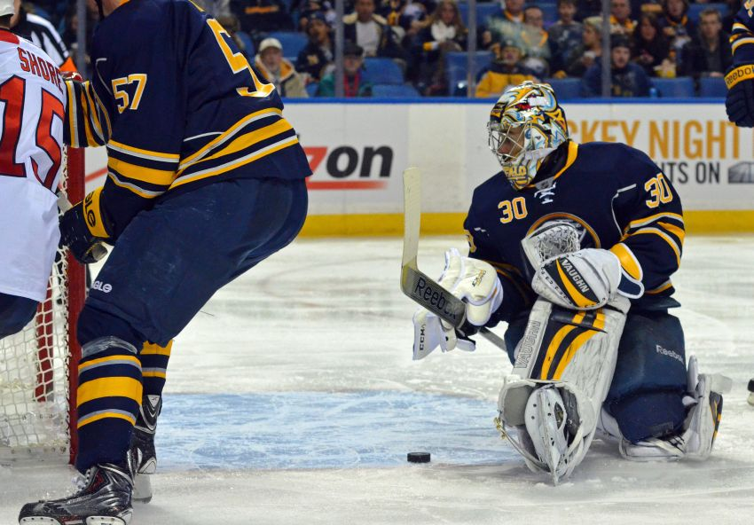 Sabres lose another tight one to Panthers, won't blame iffy outing from goalie Ryan Miller