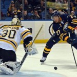 Late-game heroics help Sabres down Bruins, earn goalie Jhonas Enroth rare win