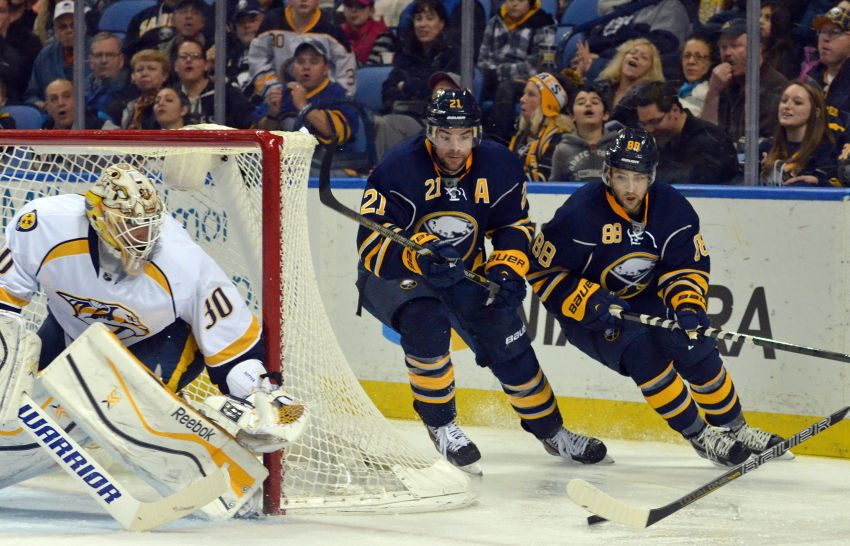 Top line earning big minutes, providing Sabres' only offense
