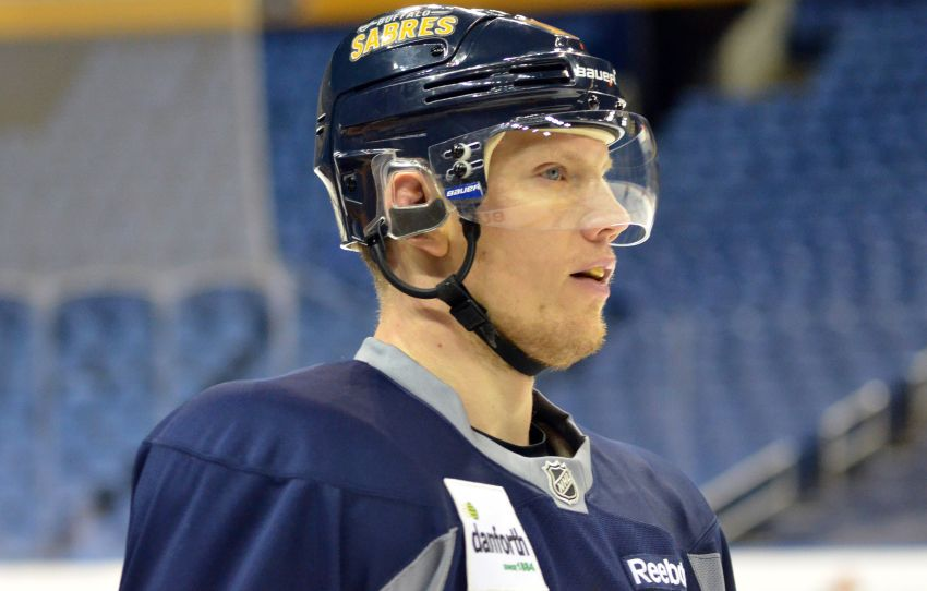 Sabres' Christian Ehrhoff OK after gruesome ear injury