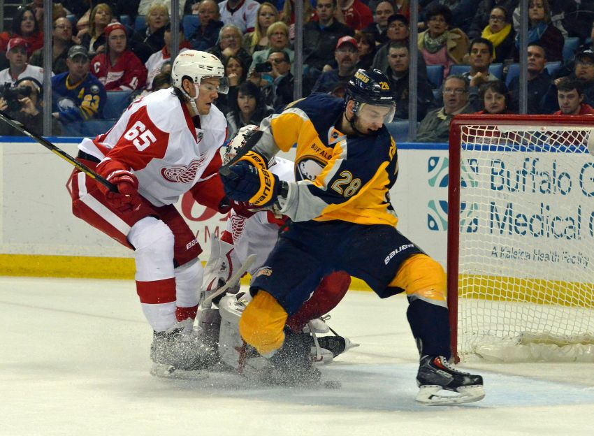 Rookie Zemgus Girgensons scores twice, Sabres still fall to Red Wings