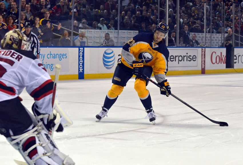 Unlikely heroics from Ville Leino and Nathan Lieuwen lift Sabres to shootout win against Devils