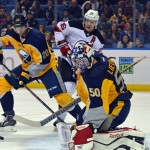 Injuries still ravaging Sabres; Goalie Nathan Lieuwen out with concussion