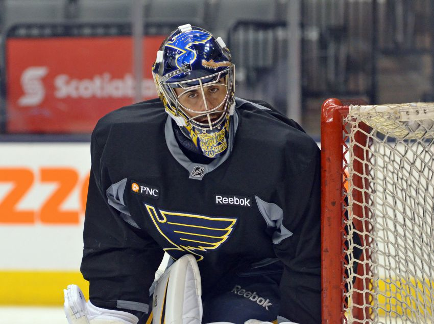 Blues goalie Ryan Miller won't play against old Sabres teammates