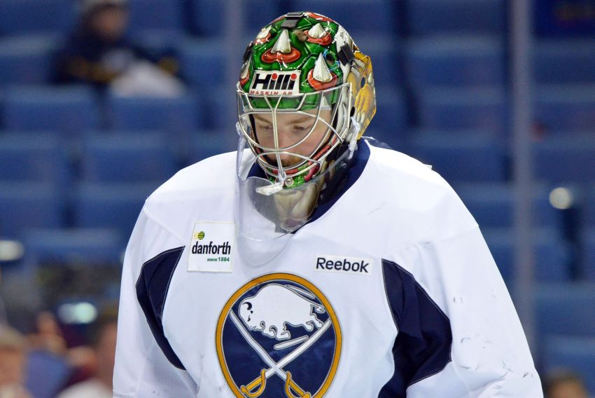 The story behind Sabres goalie prospect Linus Ullmark's Bowser mask