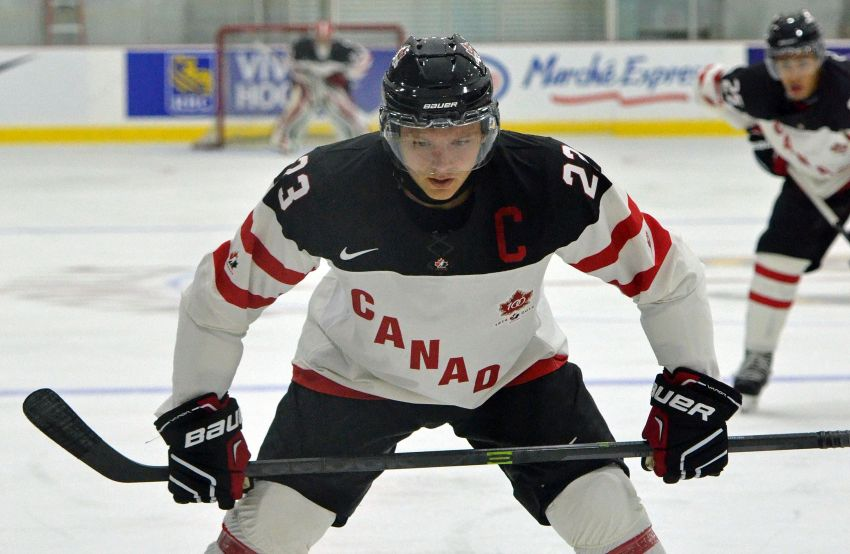 Photo: Sabres prospect Sam Reinhart with Team Canada