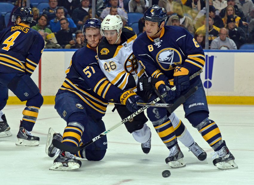 Sabres take rare lead, still fall in overtime to Bruins