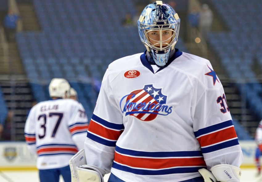 Sabres goalie Nathan Lieuwen's stay in Buffalo could be brief