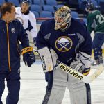 Sabres goalies Jhonas Enroth and Michal Neuvirth still battling for No. 1 job