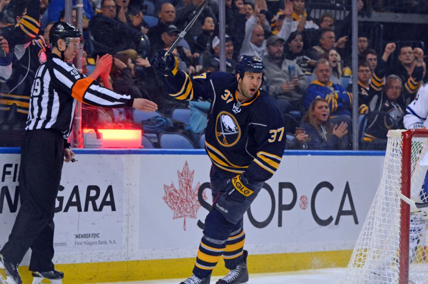 Rare Matt Ellis goal caps Sabres' comeback win against hapless Leafs