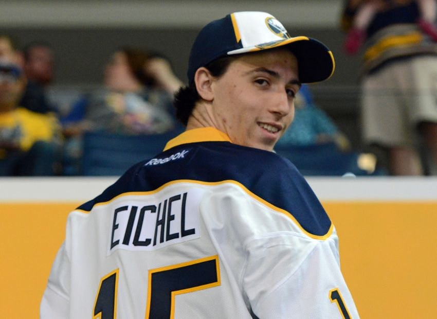 pretty nice a3ec2 62863 Sabres notes: Jack Eichel chooses No. 15; Andrew Allen hired ...