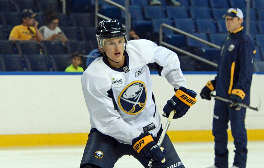 Sabres prospect Hudson Fasching wants to develop leadership skills in college