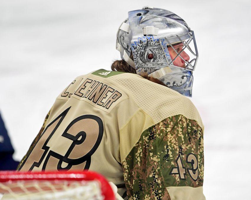 the best attitude 7c4d7 11166 Sabres goalie Robin Lehner to honor fallen Buffalo K-9 ...