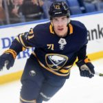 Sabres' Evan Rodrigues back beside college linemate Jack Eichel