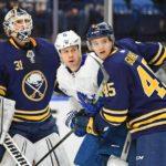 Sabres' Brendan Guhle, Casey Nelson reunited as defense pair