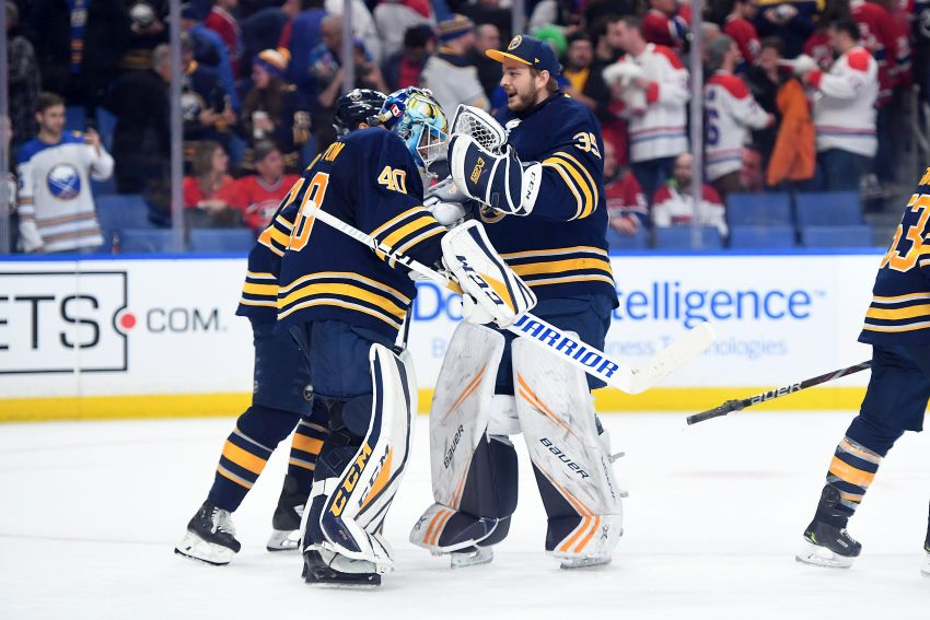 Image result for linus ullmark carter hutton