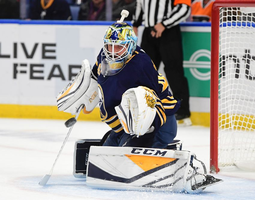 Sabres  Lawrence Pilut won t play today  Carter Hutton to start 3726e41fa