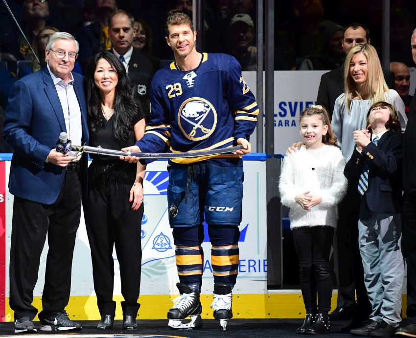 4db0b7e69a3 Sabres honor Jason Pominville for 1