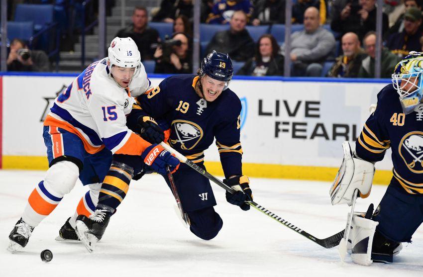 df47ba5d6 Sabres lose game to Islanders, Jack Eichel to injury - Buffalo ...